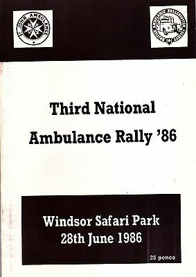 Third National Ambulance Rally Programme - 1986