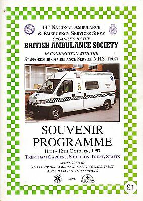 14th National Ambulance Rally Programme - 1997