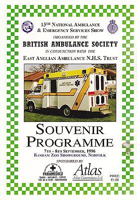 13th National Ambulance Rally Programme - 1996