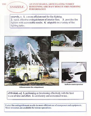 The 'Snozzle' Aircraft Rescue Fire Fighting Brochure