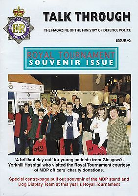 Ministry of Defence Police in-house Magazine 'Talk Through' - September 1998