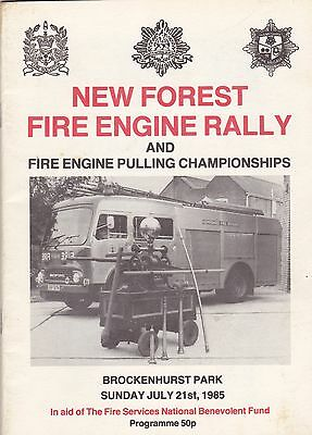 New Forest Engine Rally Programme 1985