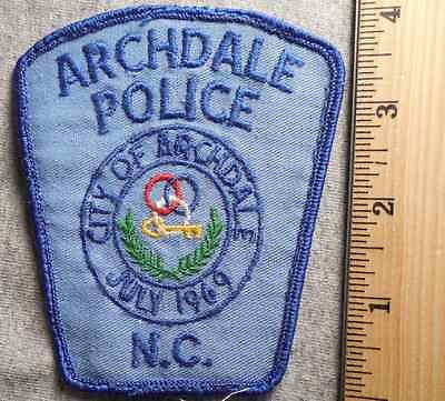 Archdale North Carolina Police Patch (Highway Patrol, Sheriff, Ems)