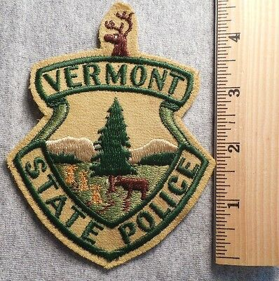 Vermont State Police Patch (Highway Patrol, Sheriff, Ems)