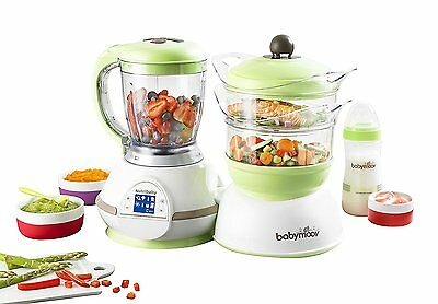 Babymoov Nutribaby Classic Multifunction Baby Food Processor Steamer and Blender