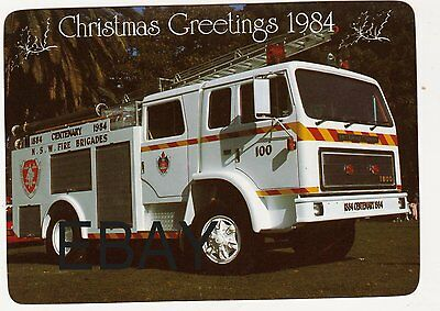 A 1984 International Pumper with The New South Wales Fire Service Postcard