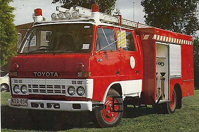 A Toyota Type 3 Pumper with The Australian Country Fire Authority Postcard