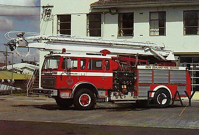A 1982 International ACCO with The 'New Zealand Fire Service Postcard