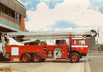 A 1980 International/Simon Snorkel with The Queensland Fire Service Postcard