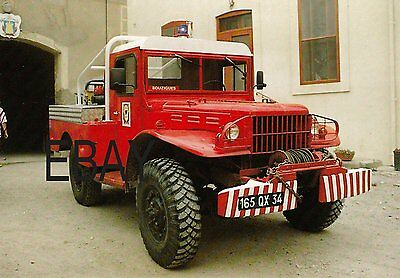A French CCF Leger Dodge Fire Service Postcard