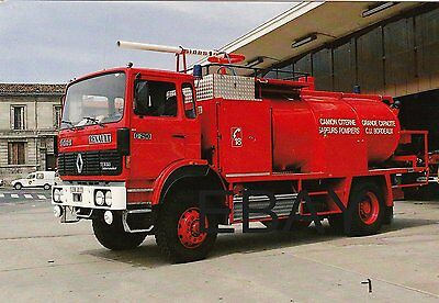 A French Renault G290/Sides Fire Service Postcard