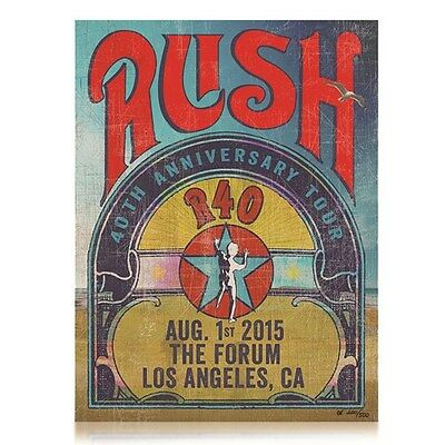 Rush LA Forum R40 Lithograph Numbered Limited Poster Moon Anniversary Tour MINT