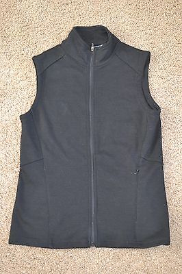 Ibex Women's XS Shak Vest 100% merino wool Black preowned but excellent cond.