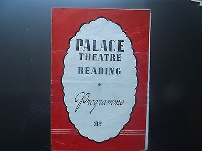 Old theatre Programme. Variety Reading Palace.