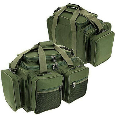 Carp Fishing Deluxe Green Carryall Multi Pocket Holdall Tackle Bag Xpr Ngt