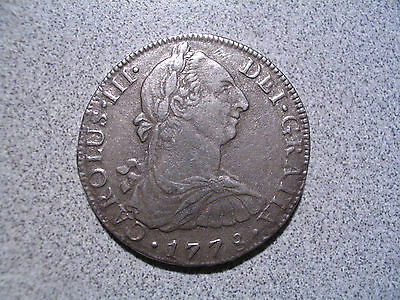 1778 CAROLUS III MEXICO 8 Reales Silver Coin - F.F.