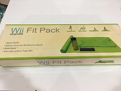 Nintendo Wii Fitness Pack Yoga Mat Bottle Anti-slip Cover Headband #A1