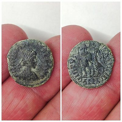 Rare Roman Bronze Coin, Unresearched 3rd Century A.D. (3)