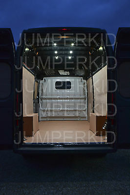 Bright interior LED van loading bay light kits for commercial vehicles rear cab