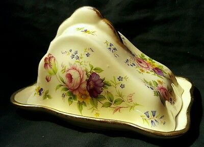 Pretty Ceramic Cheese Dish With Floral Print