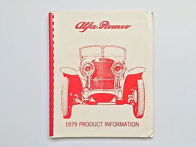 Alfa Romeo dealers 1979 Product information for USA dealers.