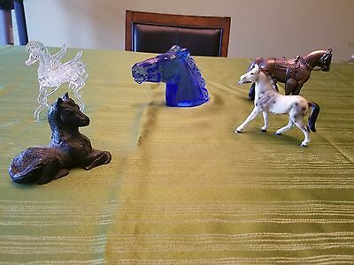 Lot of Horse and Unicorn Figurines