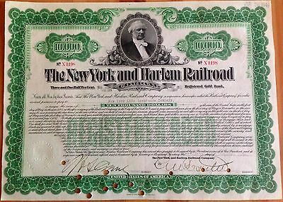 The New York and Harlem Railroad 10.000$ New York 1906