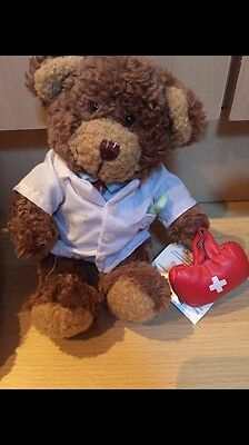 The Teddy Bear Collection. Donald The Doctor. Soft Toy. Number 8