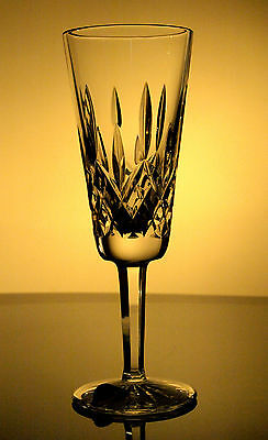 Waterford Crystal Signed Lismore Champagne Fluted Glass/ Glasses, Brand New