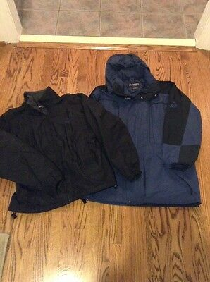 Men's Gerry Coat Jacket 3 in 1 System Size Large Blue Detachable Hood