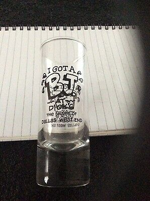 Shot Glass for Dick's bar in Dallas' west end