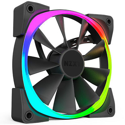 NZXT Aer RGB 120mm Fan HUE+ and CAM-compatible