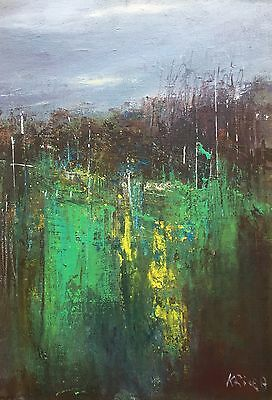 """ORIGINAL ACRYLIC PAINTING """"Abstract Landscape No 31"""" by Karen Rice"""