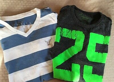 Lot of 2 Shirts American Eagle Outfitters Sz Medium Top Men's Athletic Fit