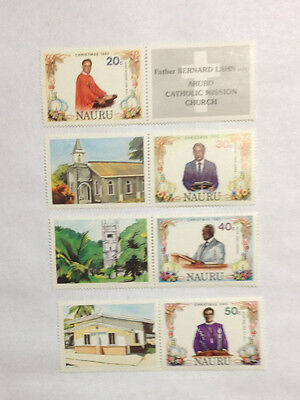Nauru MNH set Christmas 82 with pictorial gutters - photos f/b.