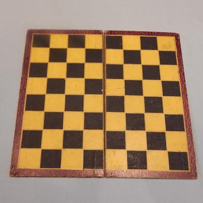 Vintage Small Chess and Draughts Board Unknown maker. 1930's?