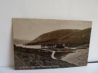 Postcard, St. Mary's Loch and Loch O'The Lowes