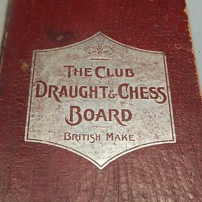 """Vintage Chess and Draughts Board """"The Club"""" British Make"""