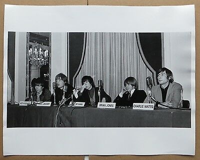 """Rolling Stones 11"""" x 14""""  photograph by Don Paulsen in NYC circa 1965 Original"""