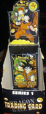 Dragonball Z trading card game series 1 1996 four booster packs with box