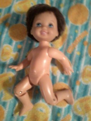 Barbie Happy Family baby RYAN Brunette Blue Eyes KNEES BEND Tommy Fd no clothes