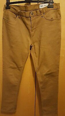 "Mens Denim co Sand straight skinny leg zip jeans. W34""/L32"". BnWOT"