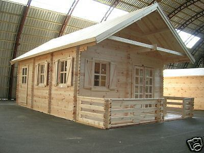 NOTTS Log Cabin 4.5 x 6m, Garden Shed, House, Storage