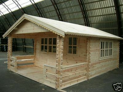 DEAN Log Cabin 4.23 x 5.86, Garden Shed, House, Storage