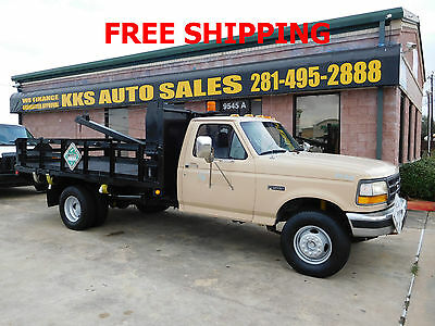 1997 Ford F-450  1997 FORD F-450 SUPER DUTY DIESEL 7.3 ENGINE WITH 11 FT BED AND CRANE,LOW MILES