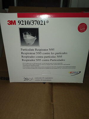 3M Particulate Respirator N95 Mask 20 Pack 9210/37021