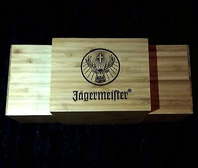 New Jagermeister Wooden Bar Caddy Napkin/straw Holder *htf*