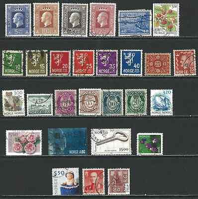 #7361 NORWAY Clearance Lot Used Stamps