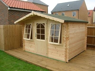 10x8 log cabin norseman summerhouse 28mm