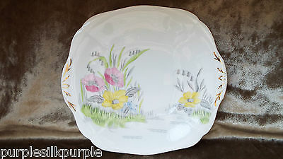 Vintage Adderley Bone China Cake Plate Serving Plate Stand